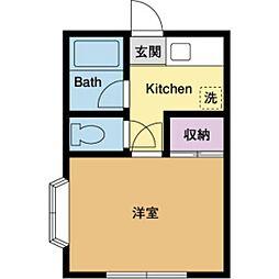 レジデンス伊藤[2階]の間取り