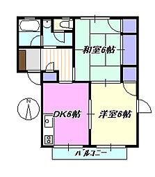 アジュール湘南[2階]の間取り