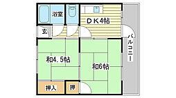 兵庫県姫路市城北新町2丁目の賃貸マンションの間取り