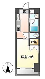 愛知県名古屋市千種区仲田2丁目の賃貸マンションの間取り