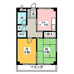 めぞん平成[4階]の間取り