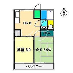 スカットハイツ[2階]の間取り