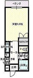 JR呉線 新広駅 徒歩10分の賃貸マンション 1階1Kの間取り