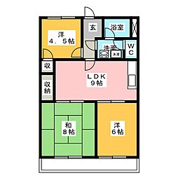 スカイメゾン大高B棟[1階]の間取り