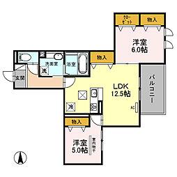 (仮)D-room南鳩ヶ谷2丁目[102号室]の間取り
