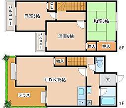 [テラスハウス] 兵庫県神戸市垂水区馬場通 の賃貸【兵庫県 / 神戸市垂水区】の間取り