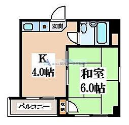 ヤサカパートII[5階]の間取り