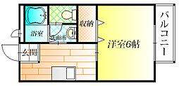 ラルゴ羽曳野[1階]の間取り