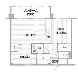 最南端住宅[1階]の間取り
