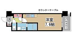 エスリード神戸三宮パークビュー[702号室]の間取り