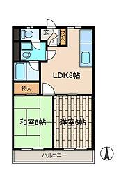 東亜ビル[304号室]の間取り