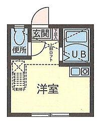 神奈川県横浜市港北区日吉6の賃貸アパートの間取り