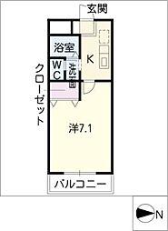 mum東新[1階]の間取り