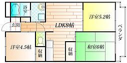 グランデール上野[2階]の間取り