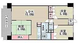 ライオンズマンション西鈴蘭台第2[705号室]の間取り