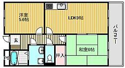 ハートシード[2階]の間取り