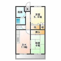 アーバン新徳田[3階]の間取り