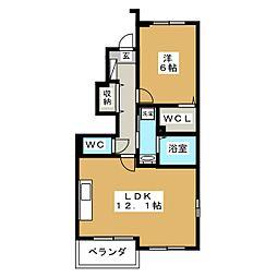 ヴェルドミール5[1階]の間取り