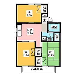 セジュール井上 A棟[2階]の間取り