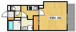 鹿児島県霧島市隼人町姫城の賃貸アパートの間取り