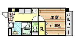 大阪府東大阪市横枕南の賃貸マンションの間取り
