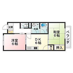 エスポアールShinji[2階]の間取り