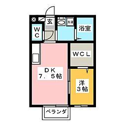 メゾンエトワールA[2階]の間取り