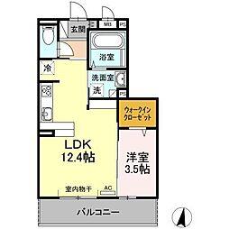 (仮)D−room新生町[203号室]の間取り