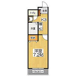 プレジール山科(西野)[2階]の間取り