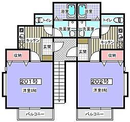 S.Tハイツ弐番館[201号室]の間取り