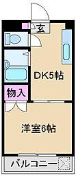 東京都北区滝野川1丁目の賃貸マンションの間取り