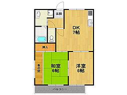奥畑荘[1階]の間取り