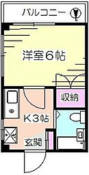 ハイツ長島[2階]の間取り
