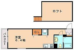 34倶楽部ハウスR[1階]の間取り