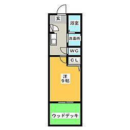 エスタシオン[1階]の間取り