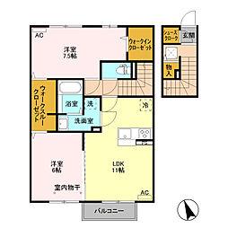 (仮)D−room富士見町 A棟[202号室]の間取り