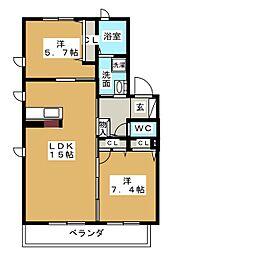 プレミール小幡 A棟[1階]の間取り