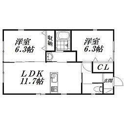 [一戸建] 静岡県浜松市東区有玉南町 の賃貸【/】の間取り