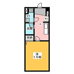 トゥール御殿場[3階]の間取り