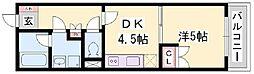 リゾティ城南[7階]の間取り