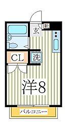 ケンコーポ青山台[1階]の間取り