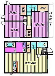 [一戸建] 埼玉県さいたま市西区大字高木 の賃貸【/】の間取り