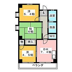 ラ・エスポワール[3階]の間取り
