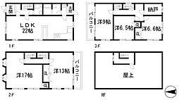 [一戸建] 兵庫県川西市加茂3丁目 の賃貸【/】の間取り