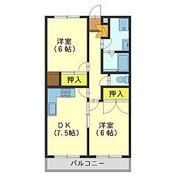 ロワ・黒崎[B3-3号室]の間取り