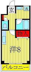 興亜第3マンション[305号室]の間取り