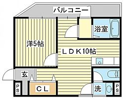 カーサ宮田[4階]の間取り