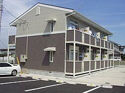栃木県真岡市中郷の賃貸アパートの外観