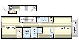 サウスアベニュー・アイリス[2階]の間取り