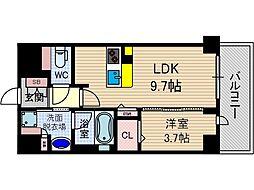 ぺスカード別院[3階]の間取り